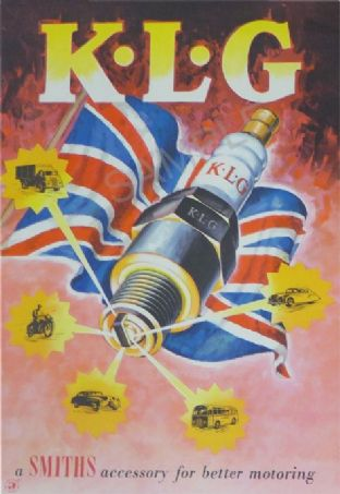 Smiths KLG Spark Plugs - Garage, Workshop Poster